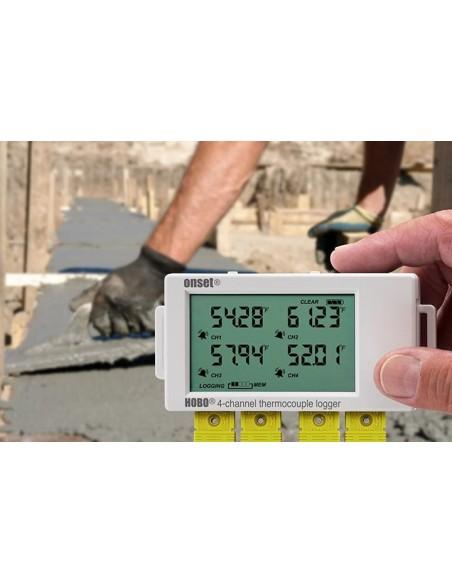 4-kanałowy rejestrator temperatury z gniazdami sond termoparowych Onset HOBO UX120-014M