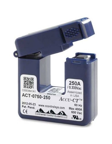 Transformator prądu zmiennego 0 … 250A z dzielonym rdzeniem, z wyjściem napięciowym 0 ... 333mV