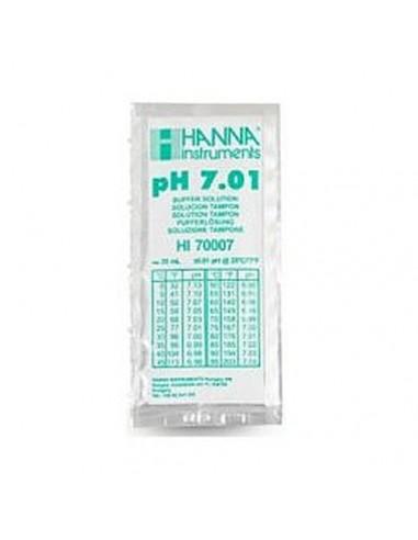 Roztwory buforowe, pH 7.01, 25 saszetek po 20 ml z certyfikatem jakości