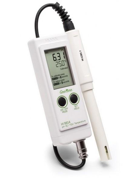 Wodoodporny miernik do pomiaru pH/EC/TDS/T serii Groline HI 9814