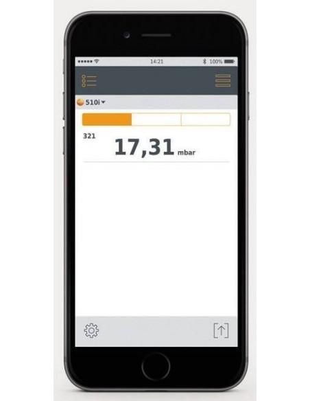 Manometr różnicowy testo 510i współpracujący ze smartfonem