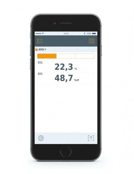 Higrotermometr współpracujący ze smartfonem Testo 605i