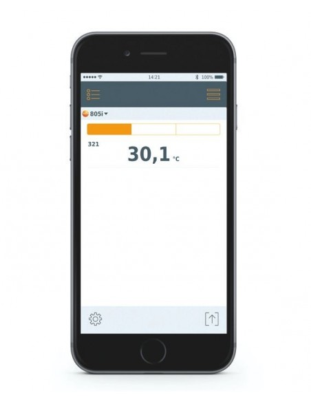 Termometr na podczerwień testo 805i współpracujący ze smartfonem