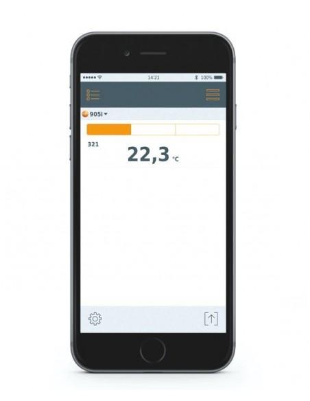 Termometr do pomiarów temperatury powietrza współpracujący ze smartfonem