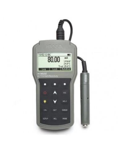 Profesjonalny, wodoszczelny (IP67) konduktometr HI 98192