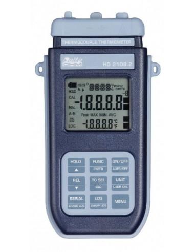 Termometr 1 kanałowy z rejestracją, wbudowaną pamięcią, komunikacją przez USB