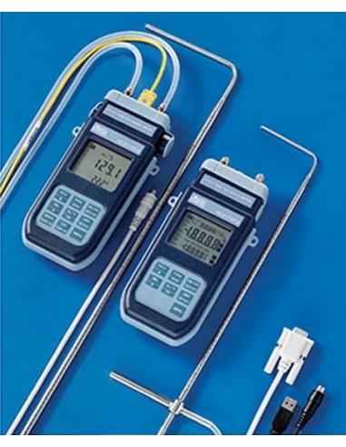 Mikromanometr - termometr współpracujący z rurkami Pitota HD2114P