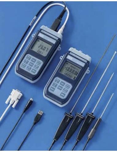 Termometr 2-kanałowy bez pamięci, z komunikacją przez RS232