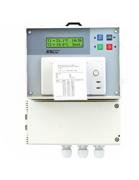 Rejestrator temperatury Termoplus DR-401 z drukarką