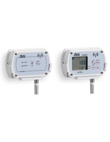 Rejestrator wilgotności względnej z wyświetlaczem, ze stałą sondą RH - HD35EDL 1 TV