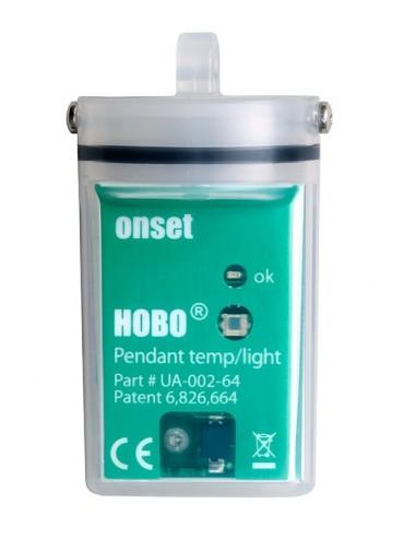 Rejestrator temperatury i natężenia oświetlenia UA-002-64 z pamięcią 56k pomiarów