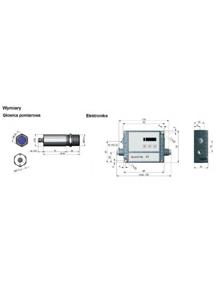Pirometr optris CTXL 3M - wymiary
