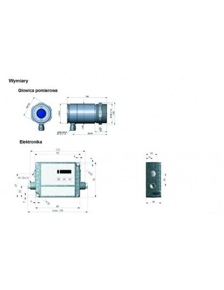 Pirometr optris CTlaser G5 - wymiary