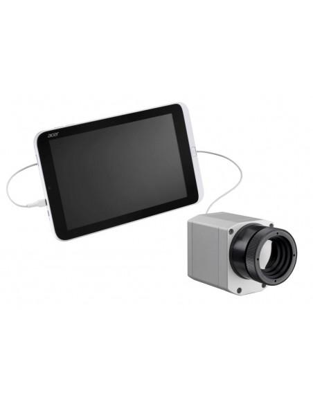 Stacjonarna kamera termowizyjna optris PI 400 współpracująca z tabletem