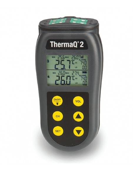 Termometr 4-kanałowy ThermaQ 2 do sond termoparowych typ K