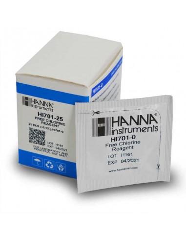 Reagenty - wolny chlor Hanna HI 701-25