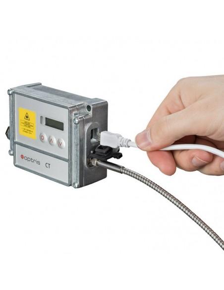 Pirometr stacjonarny Optris CTratio 2M z celownikiem laserowym