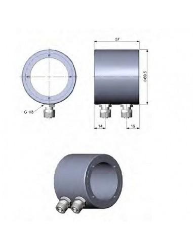 Obudowa chłodząca ze stali nierdzewnej do CSlaser/ CTlaser/ CSvideo/ CTvideo z możliwością zainstalowania wentylatora Vortex
