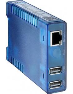 Przemysłowy serwer USB Isochron: konwerter USB-Ethernet w zestawie z zasilaczem 24 VDC
